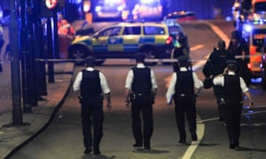 Police officers respond to the London Bridge terror attack on 3 June that underlined the need to maintain security ties with the EU after Brexit.