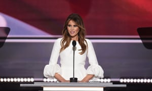Melania Trump addresses the Republican National Convention in terms strikingly similar to words used by Michelle Obama in 2008.