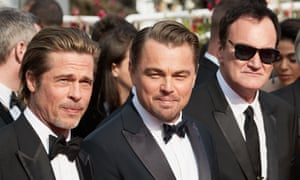 Brad Pitt, Leonardo DiCaprio and Quentin Tarantino at the Cannes premiere of Once Upon a Time in Hollywood.