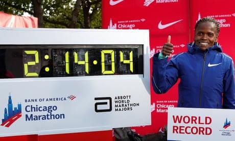 I can go quicker, says Brigid Kosgei after smashing Paula Radcliffe's world record