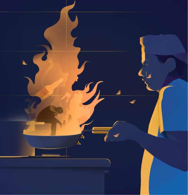 Chefs Mental health illustration