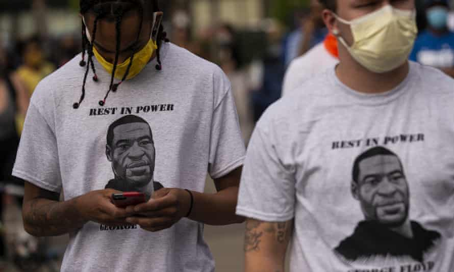 George Floyd was killed by police on Monday having been pinned to the ground.