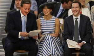 David Cameron, Samantha Cameron and George Osborne