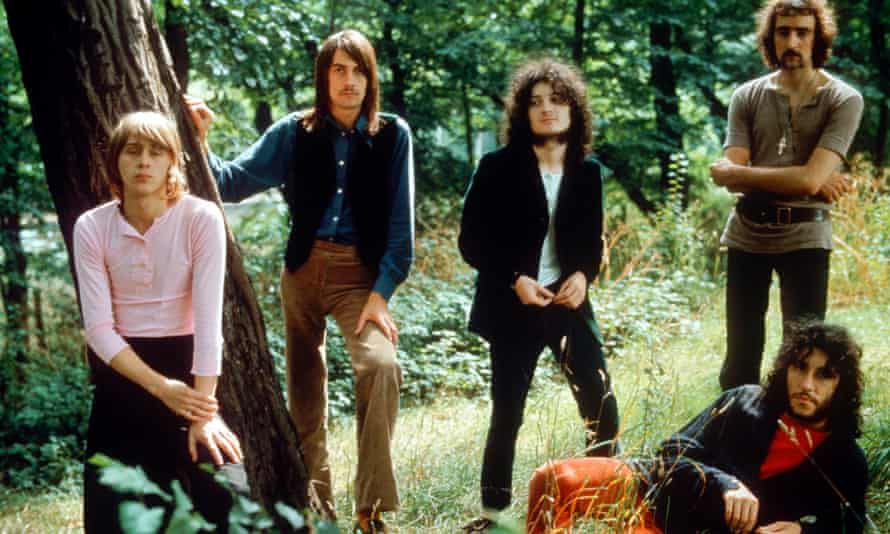 Danny Kirwan, left, with other members of Fleetwood Mac in 1969. From left: Mick Fleetwood, Jeremy Spencer, John McVie and Peter Green.