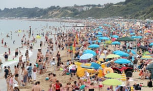 People on Bournemouth beach