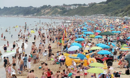 People on Bournemouth beach