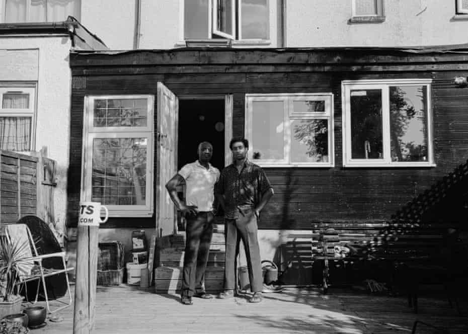 Tony and Douglas in their garden