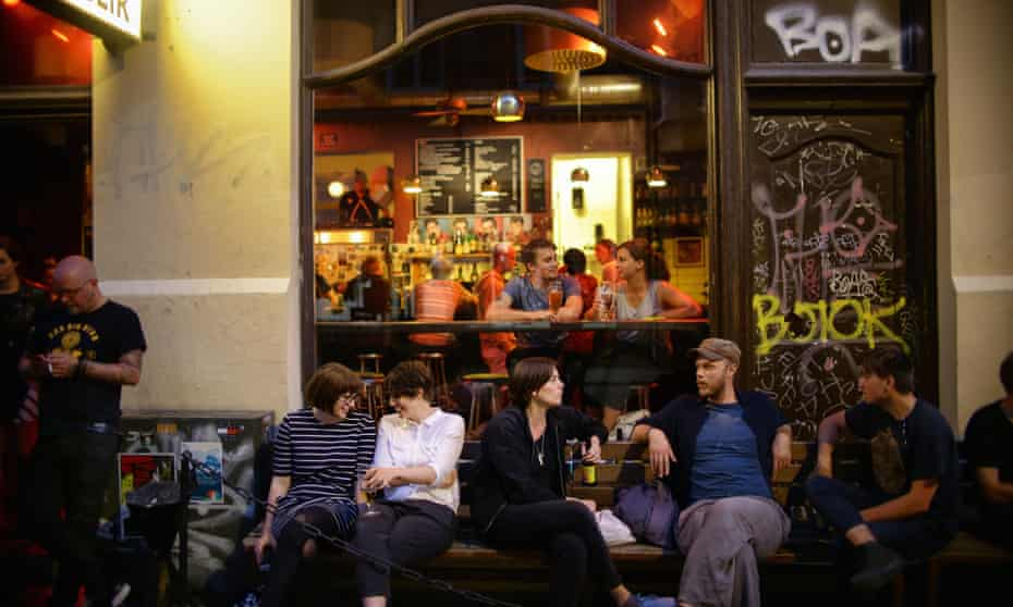 Get together … customers at a bar on Andra långgatan, Gothenburg. The city had the highest overall ranking in Hostelworld's social behaviour survey.