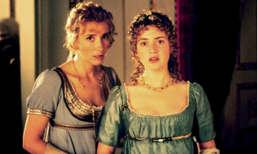 Holding her own with the big beasts of British acting ... Winslet with Emma Thompson in Sense and Sensibility. Photograph: Allstar/Columbia