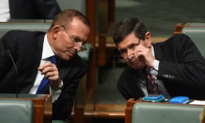 Tony Abbott and Kevin Andrews at question time