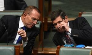 Former prime minister Tony Abbott and former minister Kevin Andrews