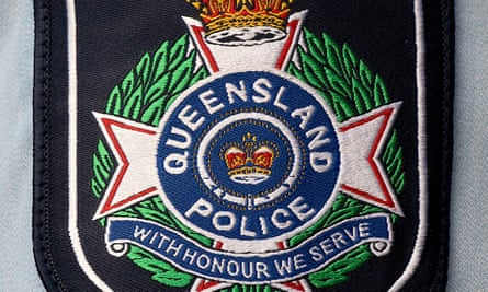 A Queensland police badge