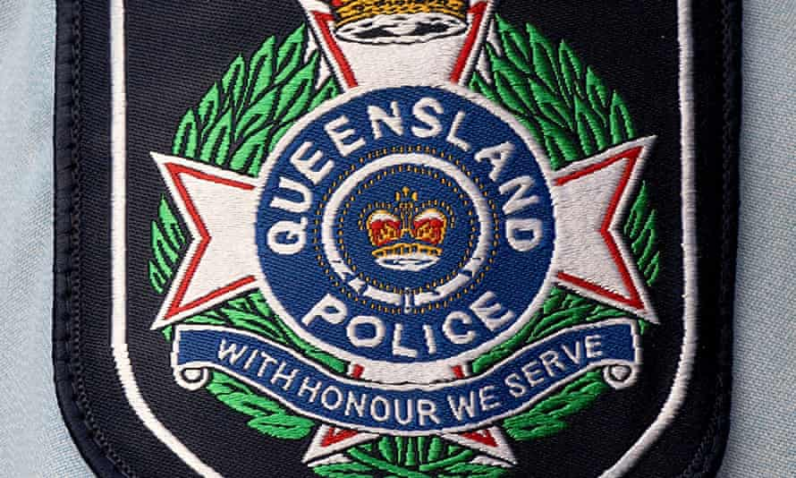 Queensland police badge on a shirt