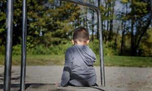 anonymous child in playground