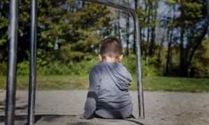 anonymous child in playground