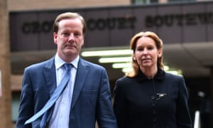 Former Conservative MP for Dover and Deal Charlie Elphicke with his wife, the current MP for Dover and Deal, Natalie Elphicke, outside Southwark Crown Court in London.