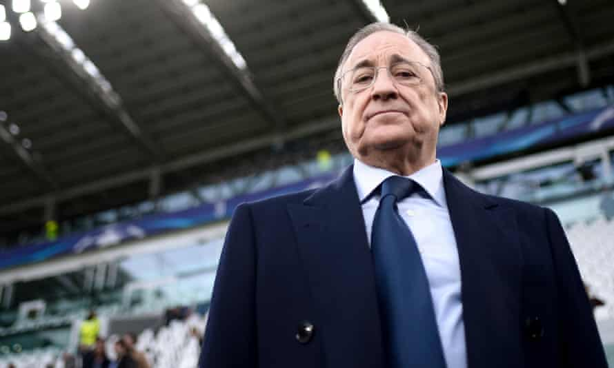 Real Madrid's president, Florentino Pérez, has seen his Super League project fall down around him.