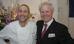 'Sometimes terrific service is sleight of hand': Michel Roux Jr with Silvano Giraldin at Le Gavroche.