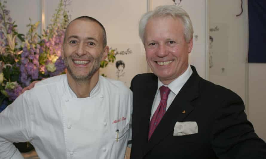 'Sometimes terrific service is sleight of hand': Michel Roux Jr with Silvano Giraldin at Le Gavroche.