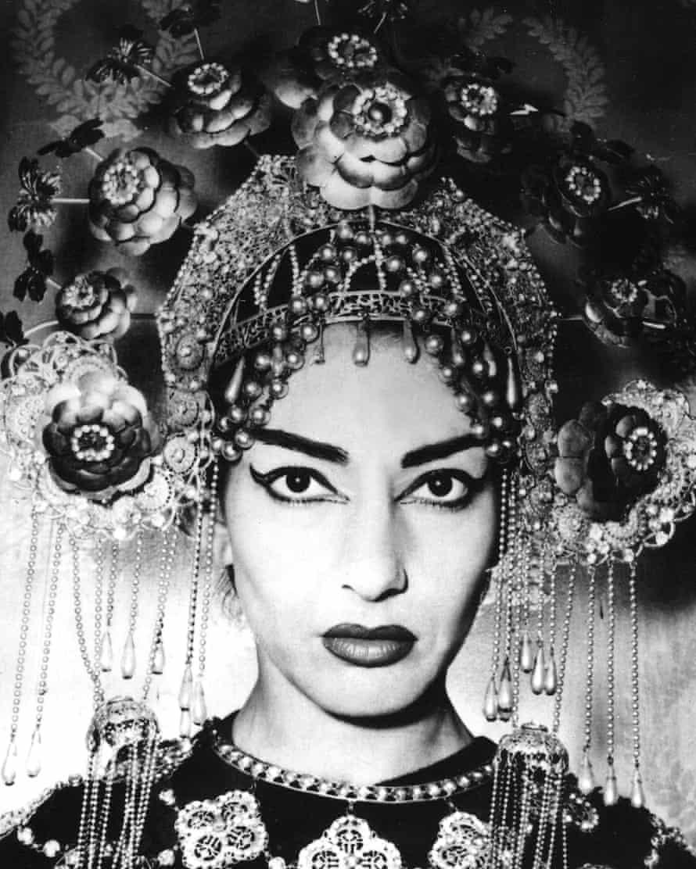 Maria Callas in Turandot in 1958.