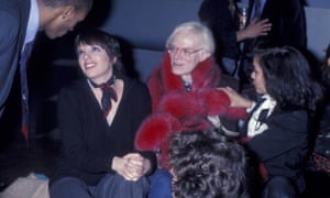Party time … Andy Warhol, flanked by Liza Minnelli and Bianca Jagger, at Studio 54.