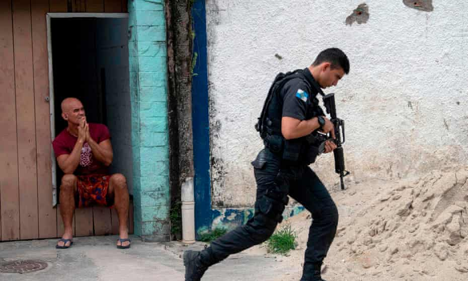 Rio de Janeiro state has registered a record number of five people killed a day on average during police operations in the first quarter of the year.