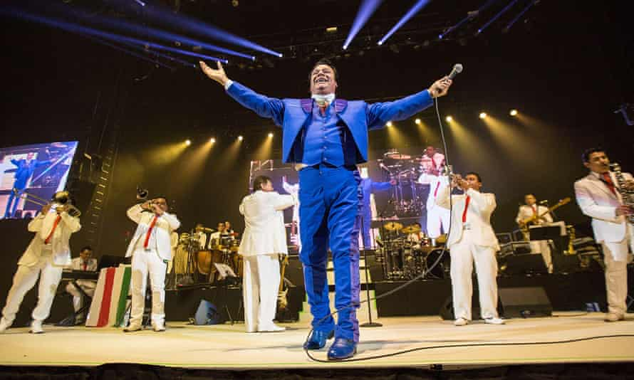 Juan Gabriel performs at Viejas Arena on 6 February 2015 in San Diego, California.