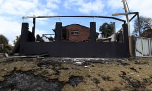 One of the houses destroyed by bushfire in Tathra.