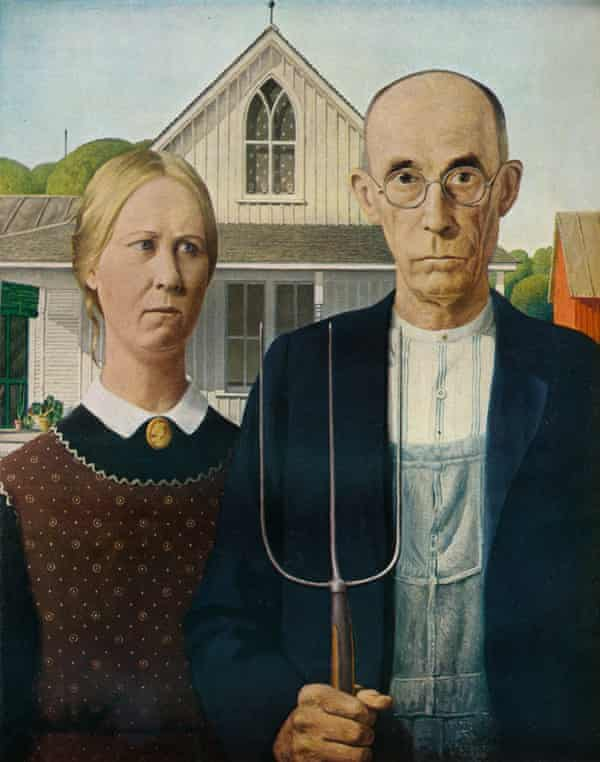 American Gothic, 1930, by Grant Wood.