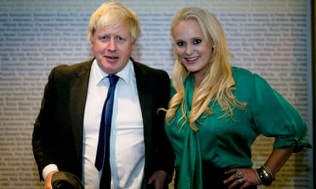 Boris Johnson and Jennifer Arcuri at an Innotech hacking and data conference in London in October 2014.
