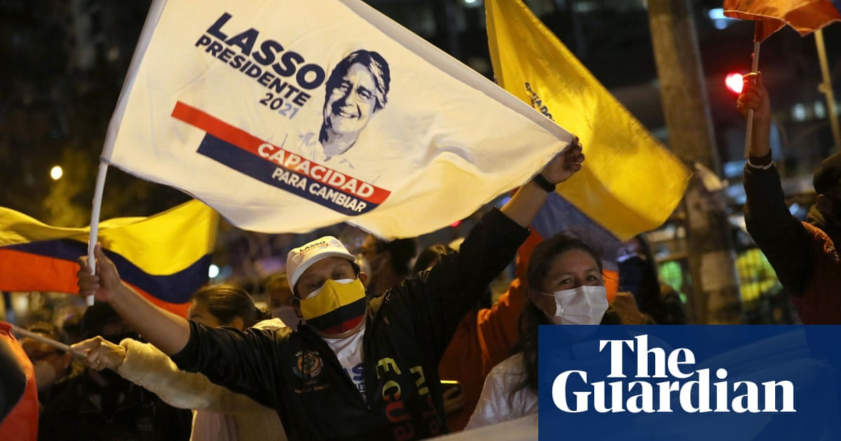 Ecuador election: former banker Lasso ahead after 90% of vote counted
