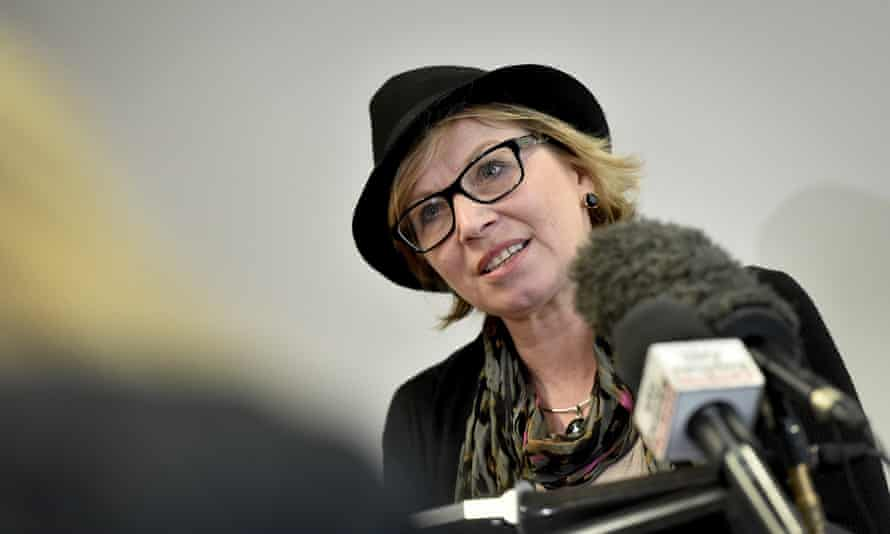 Rosie Batty speaks at a press conference at the Victorian Royal Commission into Family Violence in Melbourne, Monday, Aug. 10 2015. The 2015 Australian of the Year and domestic violence against women campaigner, will be giving evidence at the royal commission. (AAP Image/Joe Castro) NO ARCHIVING