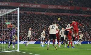 Virgil van Dijk takes Liverpool's first corner goal home.