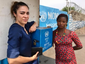 Documentary-maker Ramita Navai (left) and Francine, who says she was sexually assaulted by UN workers in the Democratic Republic of the Congo.