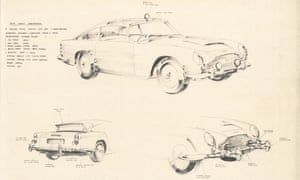 Concept drawings for the Goldfinger DB5