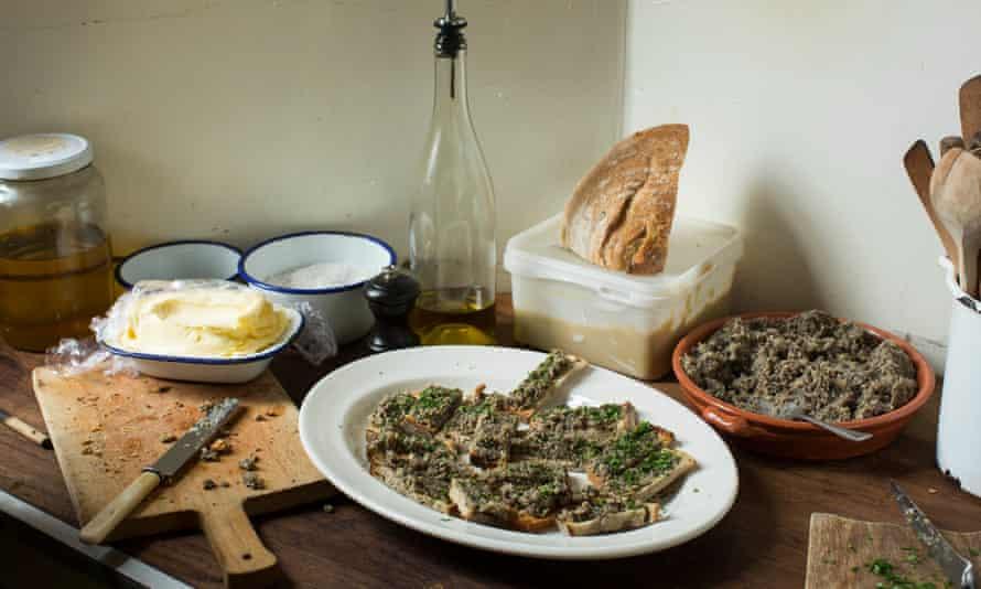 Rachel Roddy's mushroom pate.