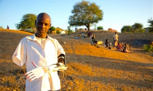 A charity uses 3D printers to make prosthetic limbs for children injured in war in Africa, such as Daniel, pictured
