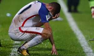 Christian Pulisic of the United States mens national team reacts to their loss to Trinidad and Tobago