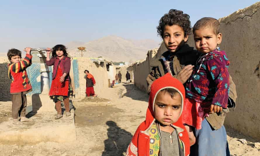 A camp for internally displaced people in Afghanistan, Kabul. In 2020, about 20 million IDPs were children under the age of 15.