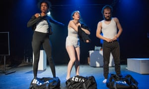 Serena Yagoub, Will Spence and Rosa Garland in Art Heist, written and directed by Jack Bradfield.