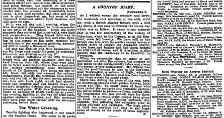 Manchester Guardian, 6 November 1918.