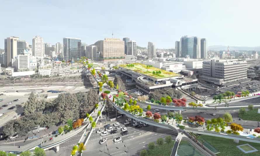 MVRDV's designs for the Seoul Skygarden