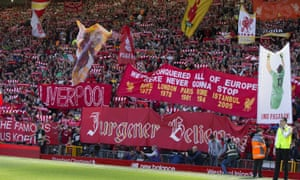 The Kop was in excellent voice after the match, despite Manchester City's win.