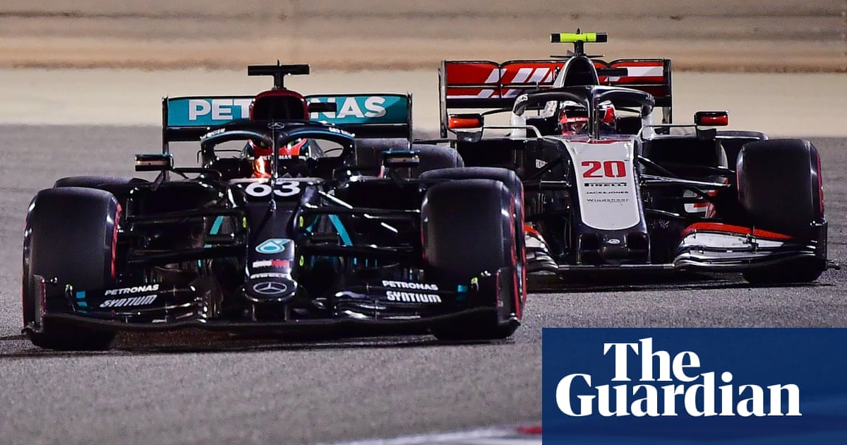Sergio Pérez wins Sakhir F1 GP after pit error robs George Russell