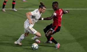 Gareth Bale (left) in action for Real Madrid against Mallorca in June. He remains out of favour under Zinedine Zidane.