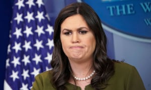 Sarah Sanders said she was asked to leave the restaurant on Friday night.