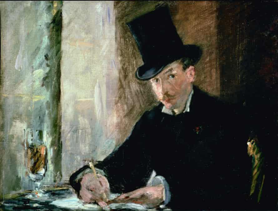 Chez Tortoni, 1878-80, by Édouard Manet.