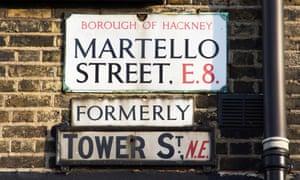 Martello Street sign