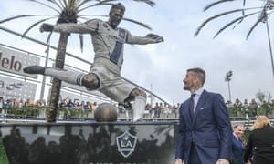 David Beckham's statue is the first in what the club is calling the 'Legends Plaza'