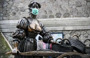 Dublin, Ireland. The Molly Malone statue